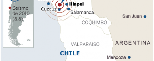 Terremoto 8.4 en Chile