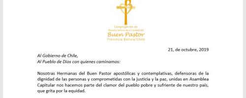 Declaración pública Hermanas del Buen Pastor