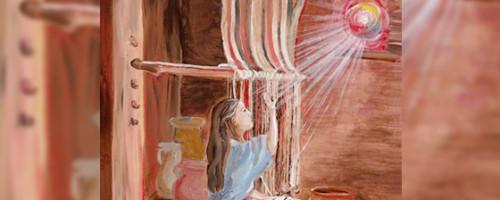 """""""¡Alégrate! llena de gracia el Señor está contigo""""."""