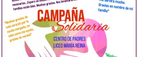 Colecta solidaria a familias del Liceo Polivalente María Reina