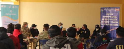 Tercera reunión del Consejo Departamental Contra la Trata y Tráfico en la zona fronteriza de Pisiga