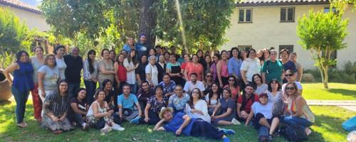 Hna. Adela Reyes representa a CONFERRE en celebración de la Virgen en el Cajón del Maipo.