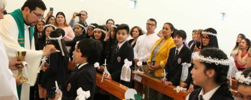 Primeras comuniones en el colegio Santa Eufrasia.