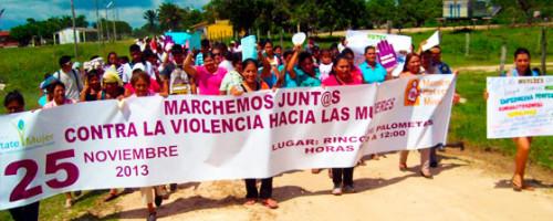 Marcha por el día internacional contra la violencia hacia las mujeres
